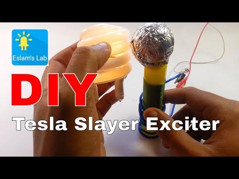 Diy Mini Tesla Slayer Ecxiter Running on 9v battery 30min