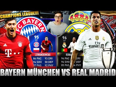 BAYERN MÜNCHEN vs REAL MADRID! 🔥⛔️ FIFA 17: ULTIMATE TEAM - CHAMPIONS LEAGUE SQUAD BUILDER!