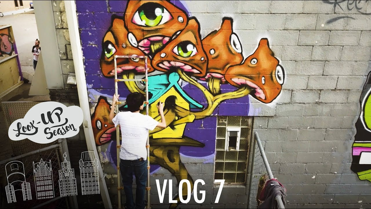 Graffiti artists tag skatepark and partying on rooftops vlog 7 of look up season
