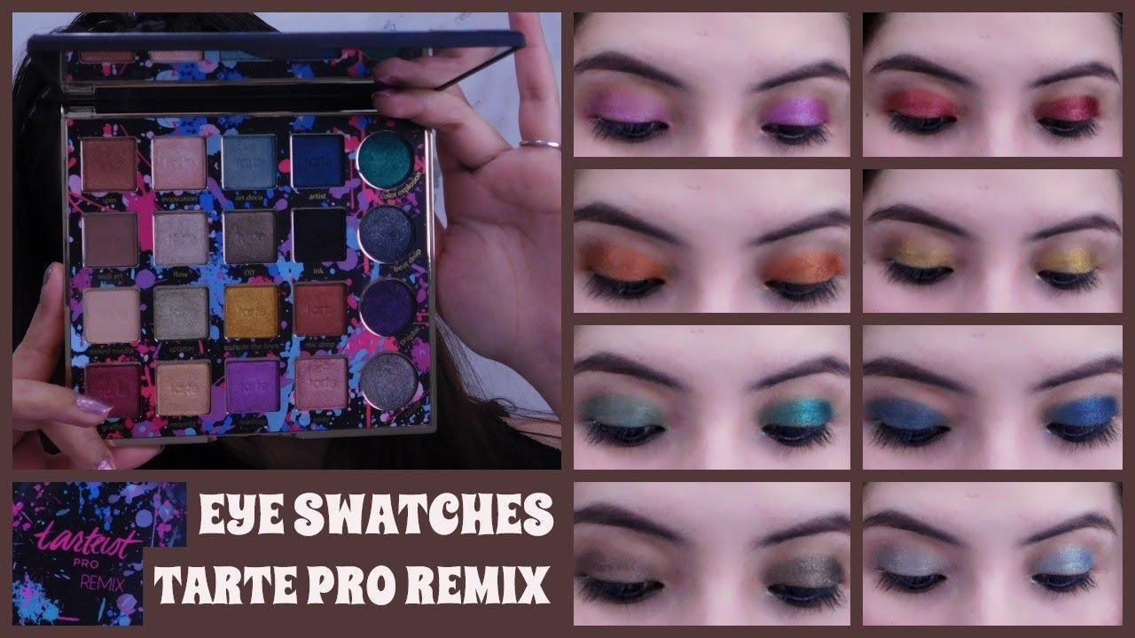 Tarte Tarteist Pro Remix Eyeshadow Palette Review And Eye Swatches