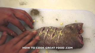 Mint & Lemon Fish - Whole Fried Fish Simple Healthy Cooking Recipe