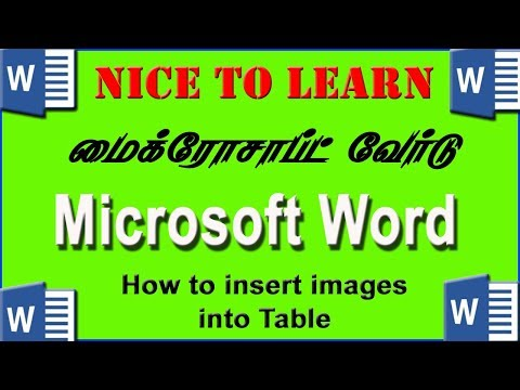 how to insert picture in table in word