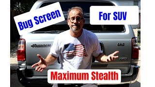 Window screen install for any vehicle (best way for stealth camping)