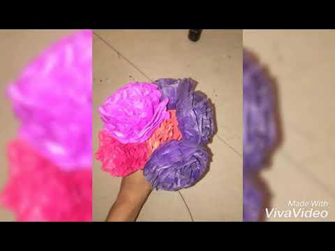 Easy flowers from kite paper/Om Rk Creativity