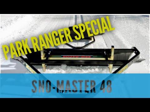 PARK RANGER SPECIAL - Sno-Master 48 Snow Groomer Machine