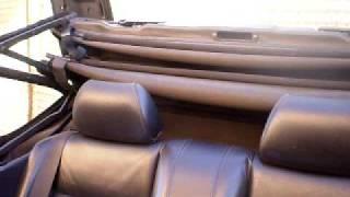 Cierre de capota electrica de BMW e30 cabrio con gomas elasticas VELSTRETCH