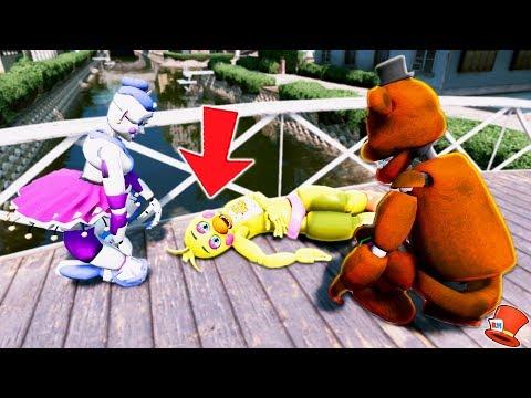 WHO KILLED TOY CHICA?? (GTA 5 Mods For Kids FNAF RedHatter)