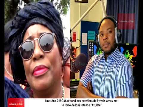 Fousséna DJAGBA reçue comme invitée sur la radio de la résistance « Avulete » par Sylvain Amos