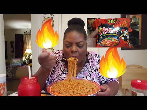 Mukbang/🔥2x Spicy Noodles🔥& McDonalds Pumpkin Spice Ice Coffee(eating show)