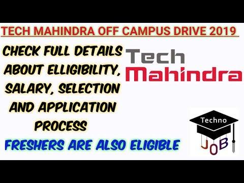 Tech Mahindra Off Campus Drive 2019 Any Degree Diploma Across India Apply Online Youtube