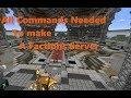 Minecraft BlockDrop server!!!! (all commands) - YouTube