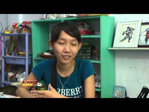 Cà phê sáng với VTV3   Tranh giay xoan Thuy Vi
