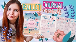 bullet journal setup 2020 | März | Spring Theme || Foxy Draws