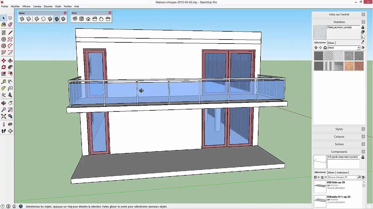 Tutoriel sketchup 02 mod lisation d 39 une maison tape for Modelisation maison 3d