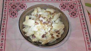 Галушки украинские с салом  / Галушки українські з салом/ Украинская кухня/ Вторые блюда.