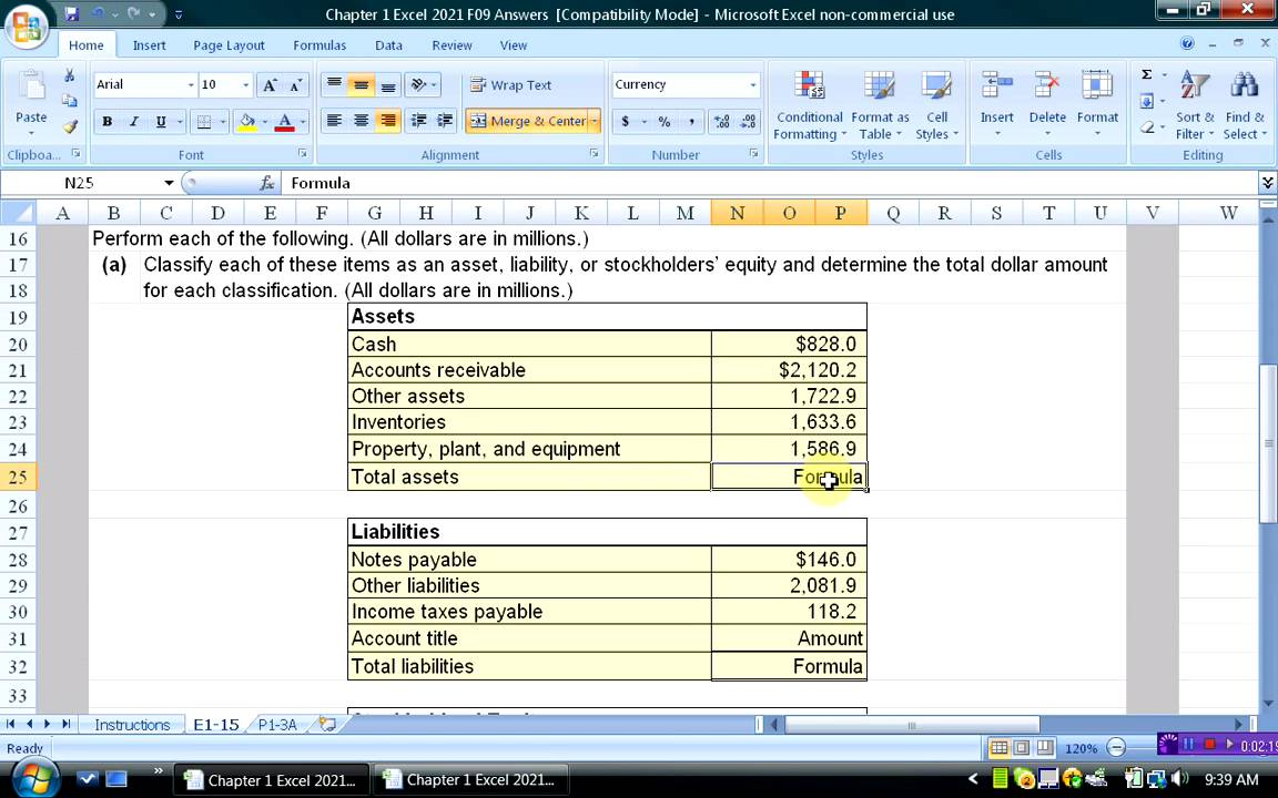 using excel to solve flexible budget problem youtube