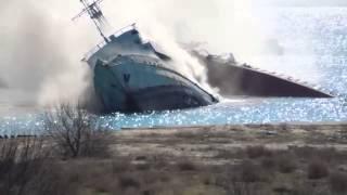 Украина.Крым.Война.Взрывом корабля, войска РФ перекрывают  Донузлав