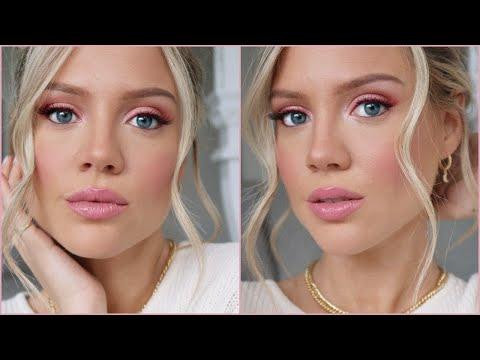 Pink Makeup Tutorial   Valentine's Day Makeup   Elanna Pecherle 2020