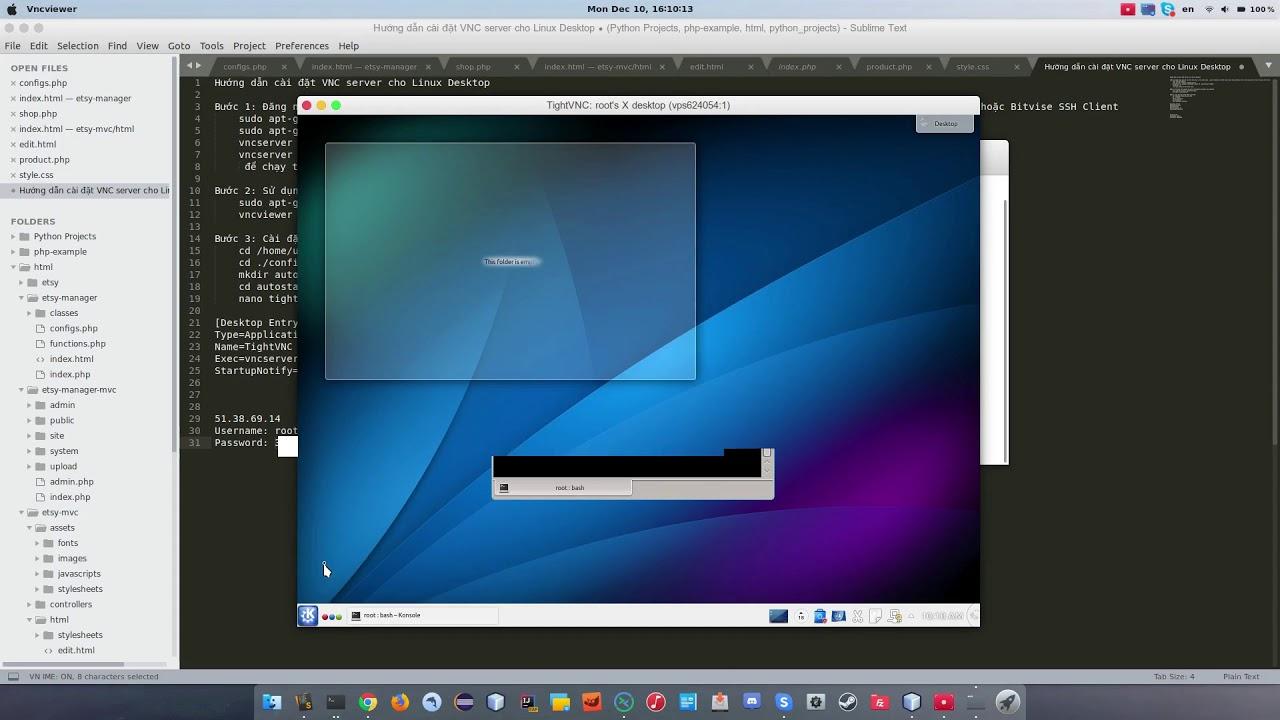 Cài đặt VNC Server cho Linux Desktop