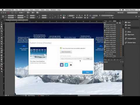 Introduction to Publish Online (Preview) with InDesign CC 2015