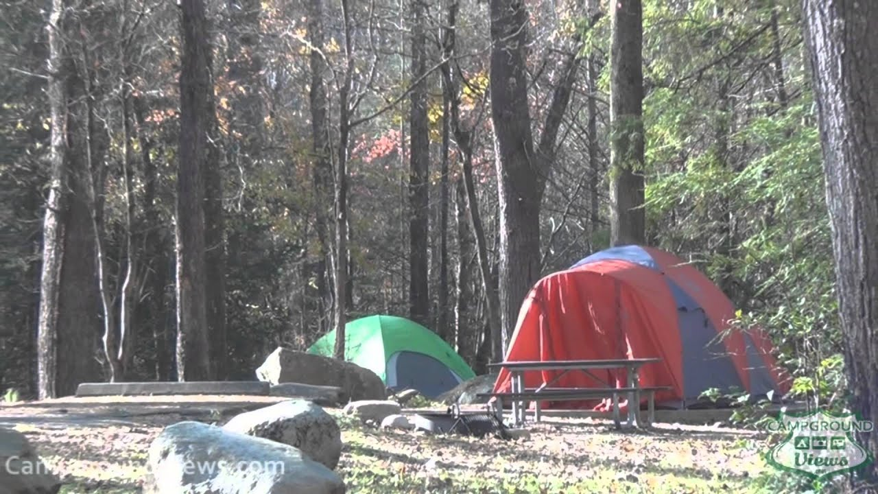 Sit on the porch and take in the mountain views, or build an outdoor fire at the community fire pit. Campgroundviews Com Elkmont Campground Great Smoky Mountains National Park Gatlinburg Tennessee Tn Youtube