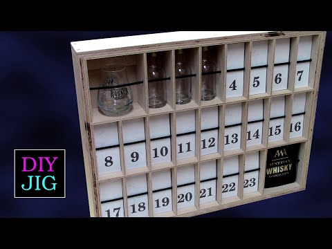 How to make a Whiskey Advent Calendar with DIY JIG