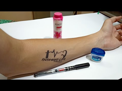 how-to-make-temporary-tattoo-using-powder-(-diy-tattoo-with-pen-)