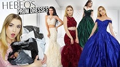 TRYING ON HEBEOS PROM DRESSES!! *Amazing Dresses but.. shipping issue* & Giveaway