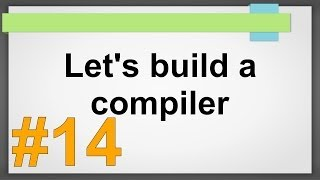 building a compiler Compiler building tutorial let's build a compiler 19 october 10, 2012 jack w crenshaw.
