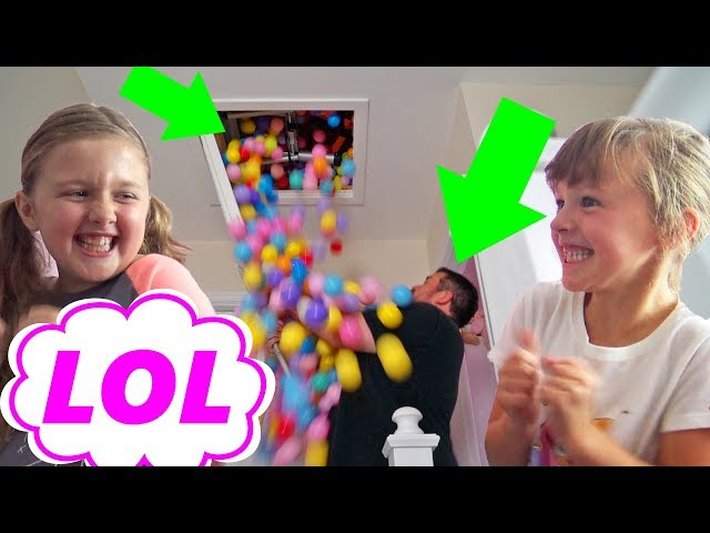 BALL PIT PRANK on MY DAD ! PRANKING OUR DAD !