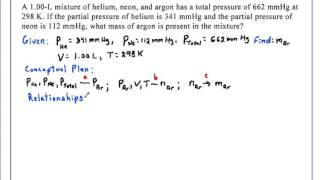 Total Pressure and Partial Pressures Chemistry