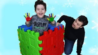 Boyalı Eller Sürprizi! Yusuf pretend play painted hands-Funny Kids Video