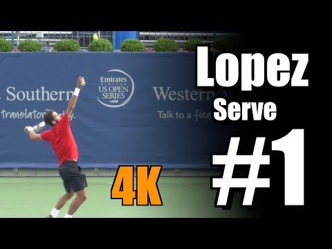 Feliciano Lopez in 4k | Serve #1 | Western & Southern Open 2014