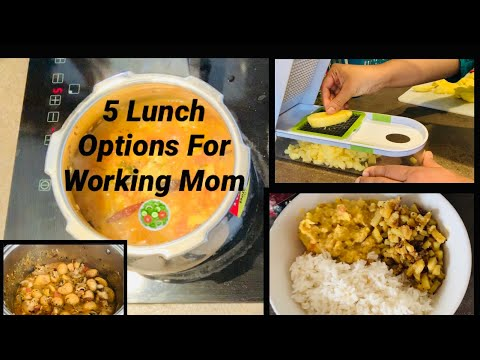 5 Lunch Options For Working Women || Easy And Healthy Cooking 🥘