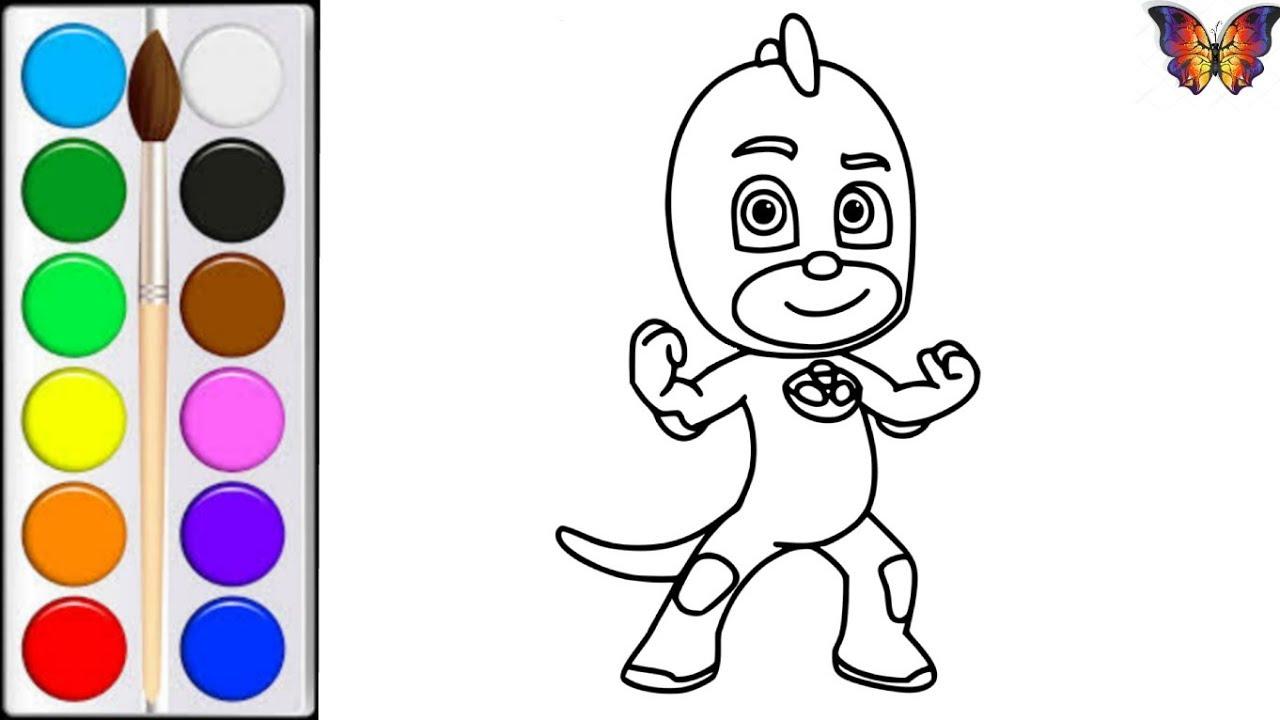 Как нарисовать ГЕККО / мультик раскраска ГЕРОИ В МАСКАХ ...