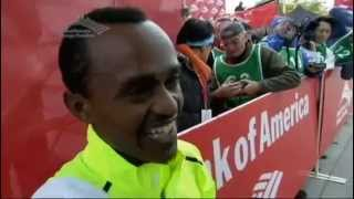 Excited Ethiopian Athlete Tsegaye Kebede interview With NBC reporte...