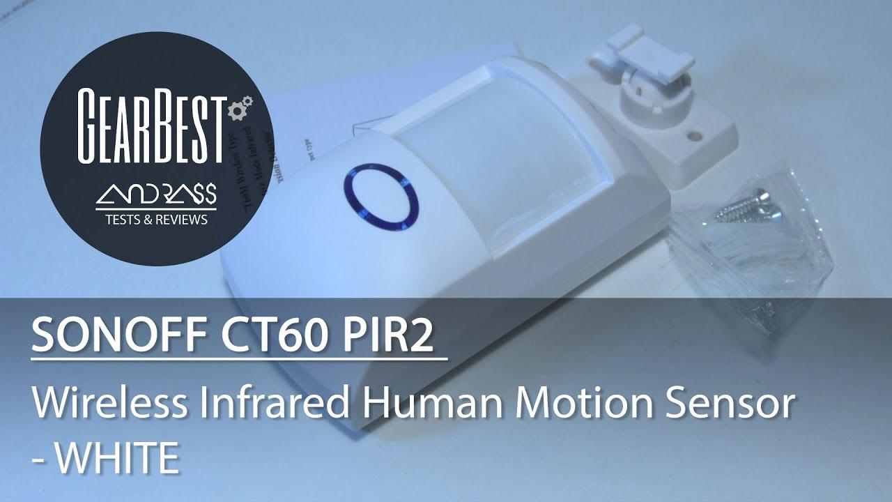 SONOFF CT60 PIR2 Wireless Infrared Human Motion Sensor - GEARBEST COM