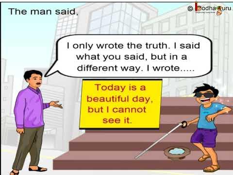 Short Animated Story   The Blind  Boy  English