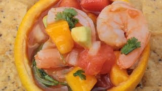 Shrimp Tequila Mango Watermelon Ceviche - Mouthgasmic Recipe