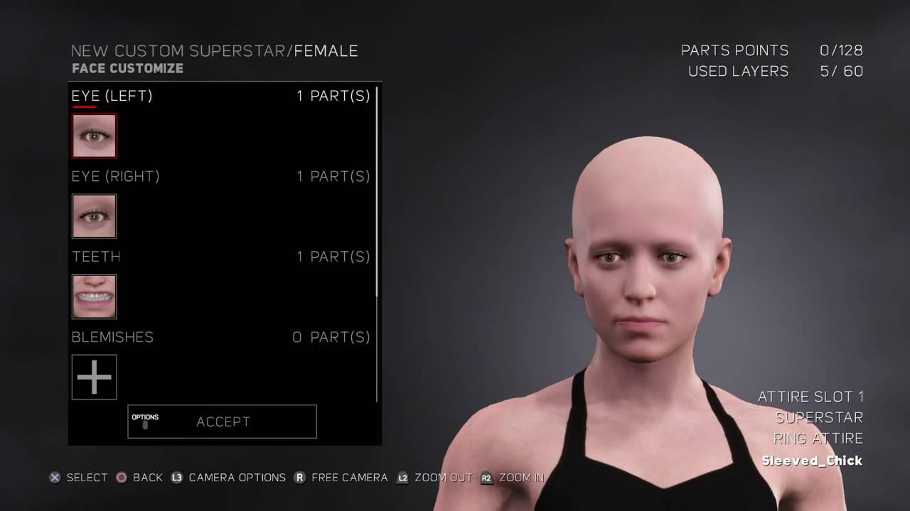 Pubg Character: WWE 2k17 Female Character Creation
