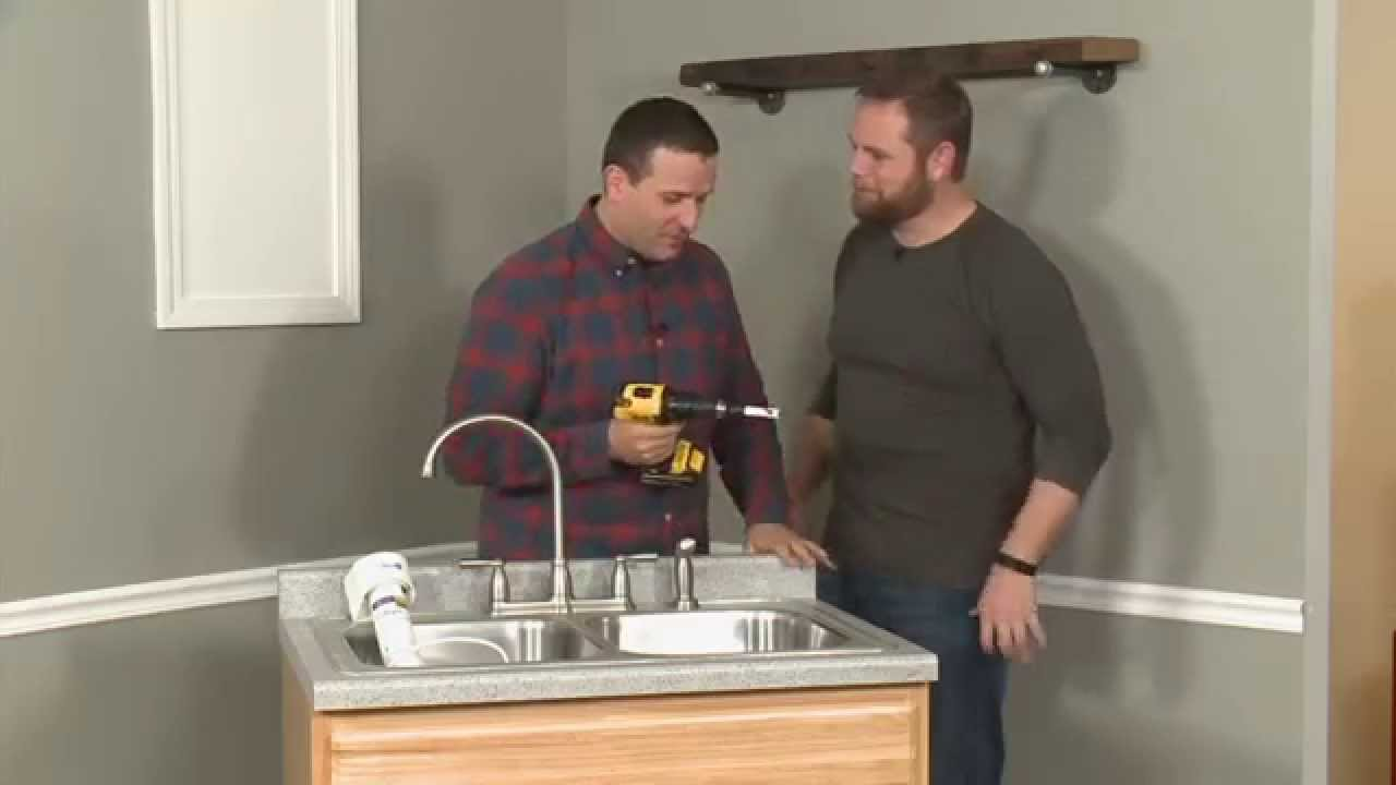 how to install a water filter in a kitchen sink