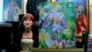 Цветы ирисы, история о картинах. Relaxing Iris flowers Art