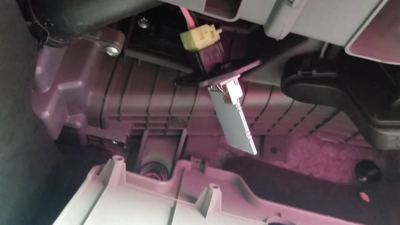 2011 kia optima blower motor resistor replacement youtube