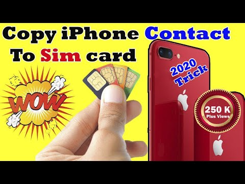 How To Export/Import/Copy Contacts From Iphone To Sim Card (SIManager)