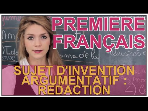 Rédaction sujet invention 2nde Français