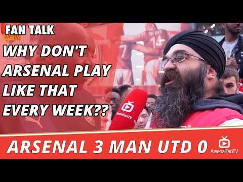 Why Don't Arsenal Play Like That Every Week??  | Arsenal 3 Man Utd 0