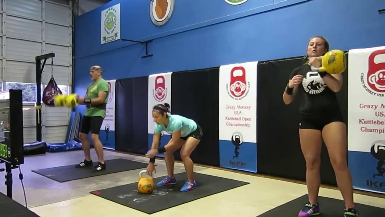 Rachel biathlon jerk 16x174, kendra 16kg oalc 125 - crazy monkey kettlebell