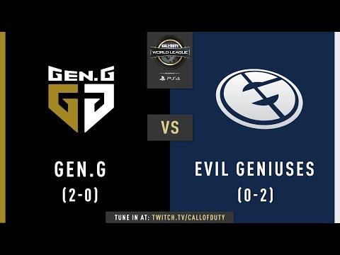 Gen.G vs Evil Geniuses | CWL Pro League 2019 | Division A | Week 1 | Day 4