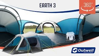 Outwell Earth 3 Tent  - 360 video (2019)