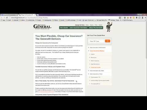 The General Insurance Quotes Simple The General Insurance Quotes  Free Quotes  Youtube
